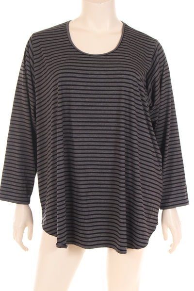 KC1749 Blouse U neck long sleeve