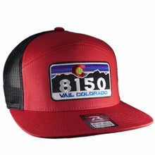 8150 7 Panel Vail Hat - RED/BLACK
