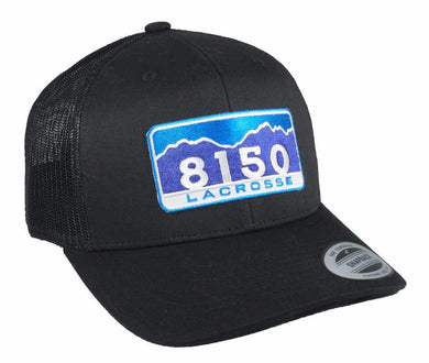8150 Retro Trucker Snapback BLACK