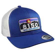 8150 Sunset Retro Trucker Snapback - ROYAL/WHITE