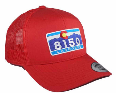 8150 C Retro Trucker Snapback RED