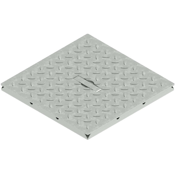 12x12 Catch Basin Solid Galvanized Grate PKG