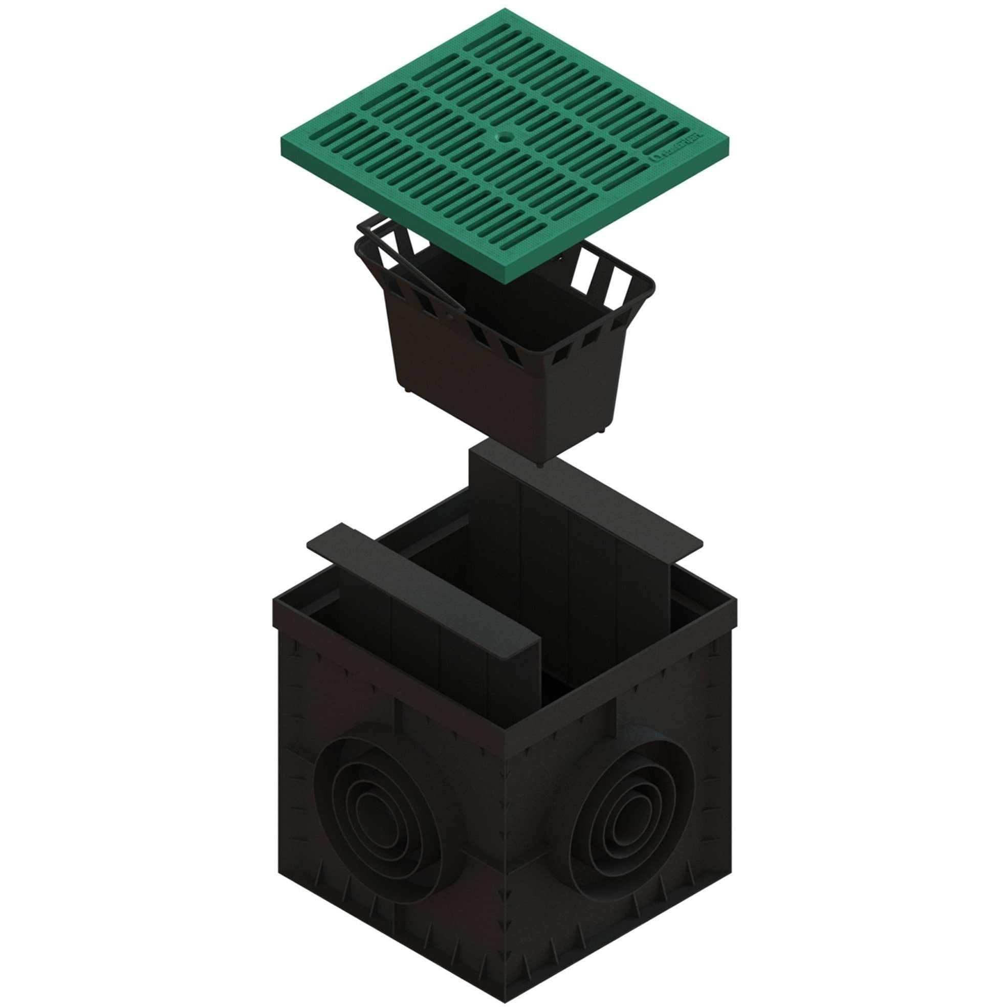 12x12 Catch Basin w/ Green Grating PKG Catch Basins Standartpark