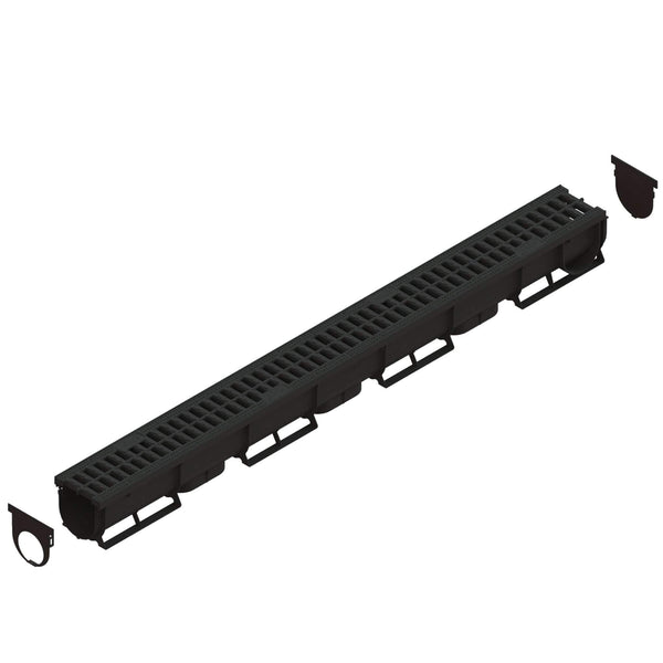 Spark 1 - 3 Inch channel Black Trench Drain Standartpark 1 Unit