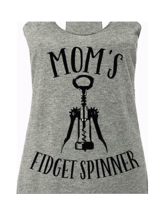 Mom's Fidget Spinner Racer Back Tank Top