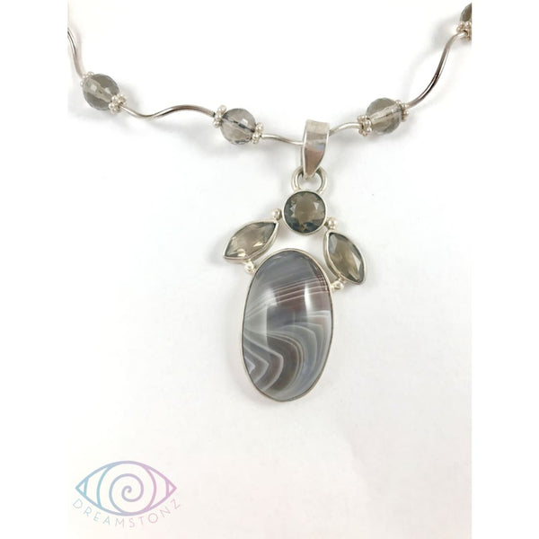 Smoke on the Lake Necklace - Necklace
