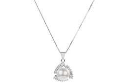 Freshwater Pearl Pendant and Sterling Silver (925) Chain Necklace 10mm-Pearl Rack