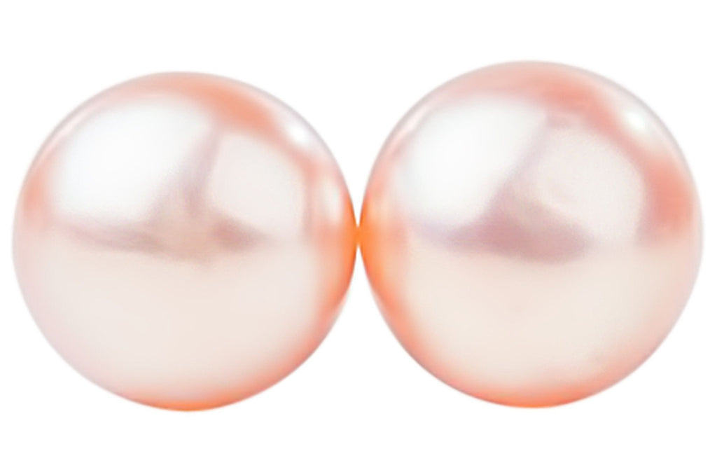 peach topleftview freshwater cultured silver pearl whitegold jewelry earring stud mm sterling earrings pearls