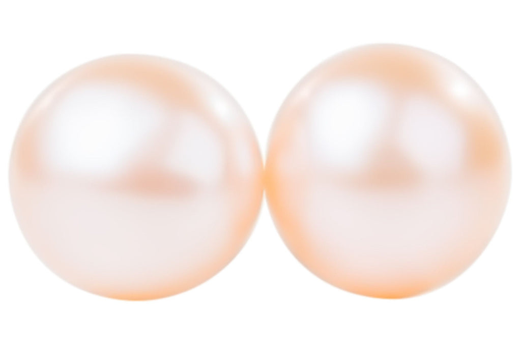 color shop freshwater pearls international stud pearl earrings peach