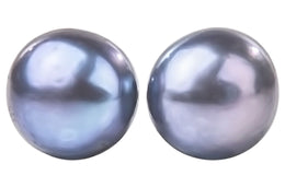 Peacock Blue Freshwater Pearl Stud Earrings Sterling Silver 5mm-Pearl Rack