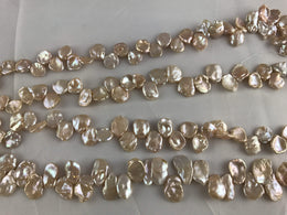 Strand Of Loose Peach Keshi Pearls-Pearl Rack