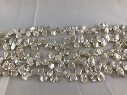 Strand Of Loose White Keshi Pearls-Pearl Rack