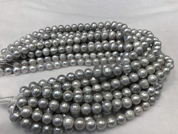 Strands Of Loose Pearls 11mm Off-Round Grey-Pearl Rack