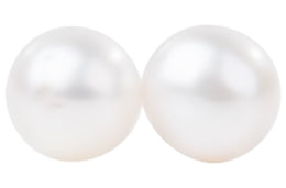 White Freshwater Pearl Stud Earrings Sterling Silver 5mm-Pearl Rack