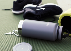 Grey Bindle Bottle for yoga or gym