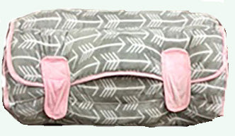 GREY ARROW & PINK NAP MAT