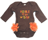 Gobble til you Wobble Girl Onesie