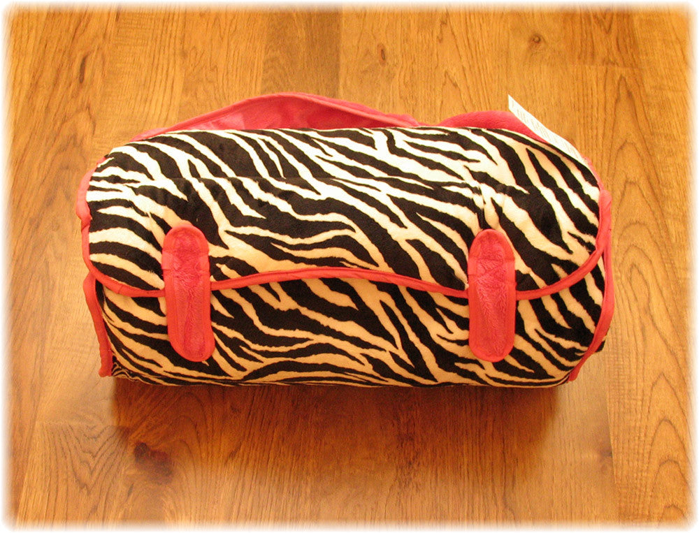 Zebra and Hot Pink Nap Mat
