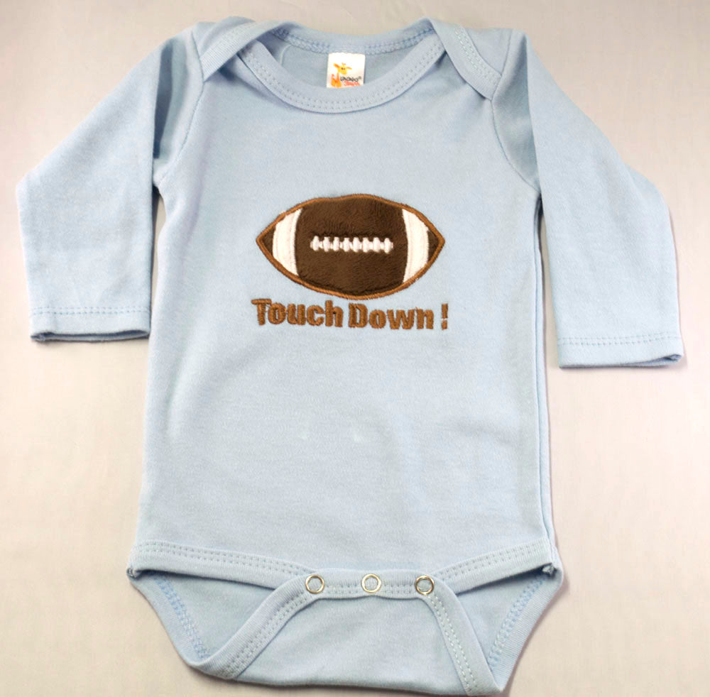Touch Down Football Onesie Boy