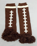 Football W/ Brown chiffon Legwarmer