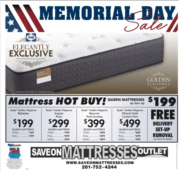 Memorial Day Mattress Sale 2018 in Houston TX