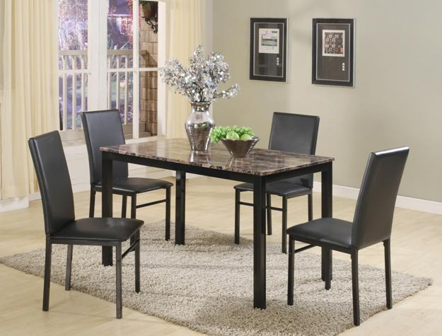 Marble top Dinette 5 pc set