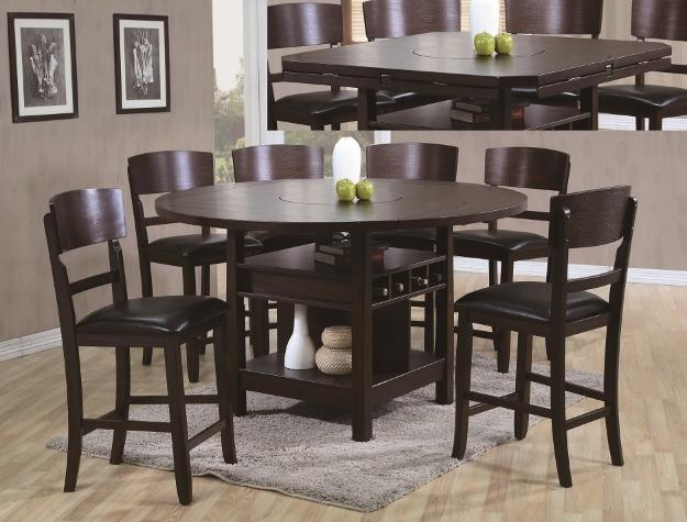Counter Height Espresso table with 6 chairs