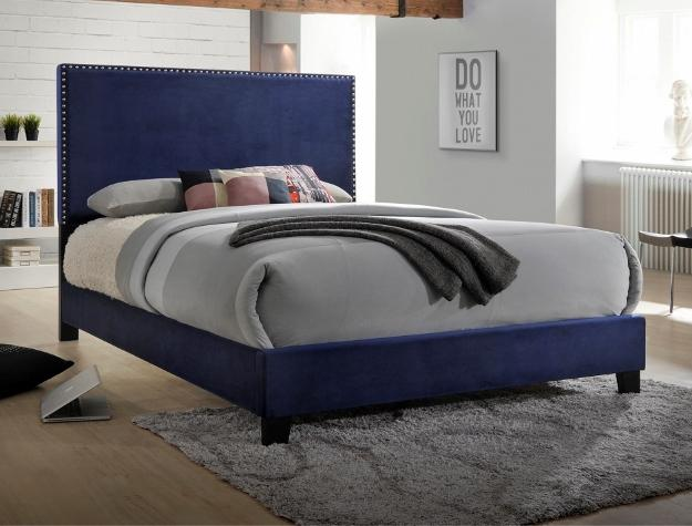 Upholstered Bed 5264 Navy - Save on Mattresses Outlet