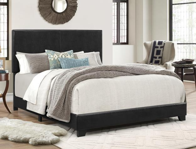 Upholstered Bed Black PU - Save on Mattresses Outlet