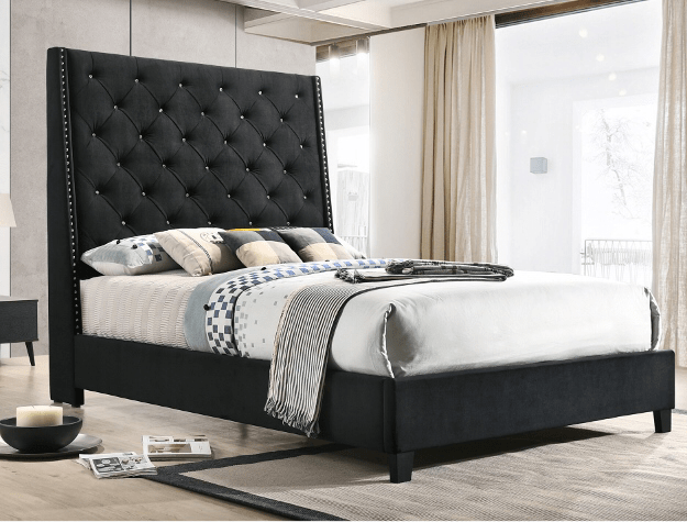 5265 black bed - Save on Mattresses Outlet