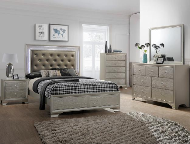 Queen Bed Champagne Color - Save on Mattresses Outlet