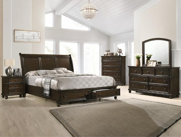 STORAGE SLEIGH BED