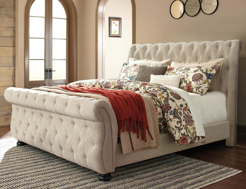 Upholstered Queen Bed by Ashley - Save on Mattresses Outlet