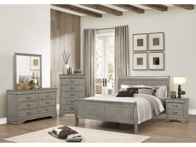 Louis Philip Bed Grey - Save on Mattresses Outlet