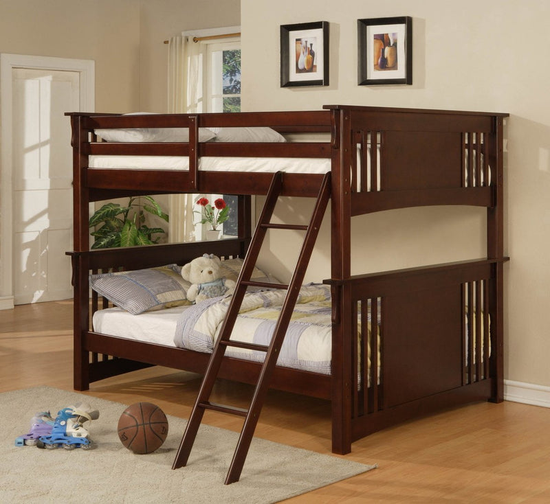 Full/Full Bunk Bed - Save on Mattresses Outlet