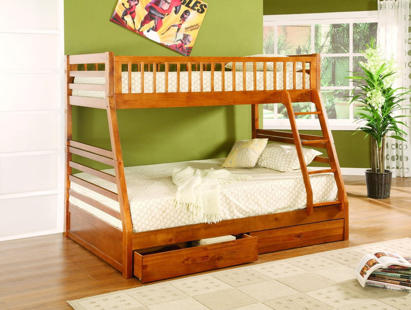 Twin Full Bunk Bed with Storage - Save on Mattresses Outlet