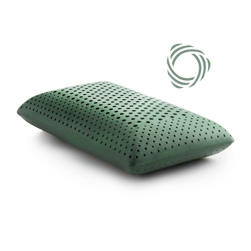 CBD oil Infused Zoned Dough Memory foam Queen Pillow by Malouf Z