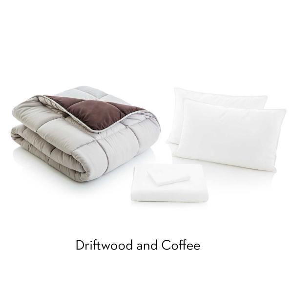 Bed in a Bag (1 Down Alternative Comforter, 1 Sheet, 1 Fitted Sheet, 2 Pillow Cases and 2 Down Alternative Pillows)