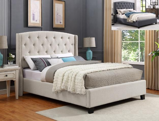 Tufted Upholstered Bed