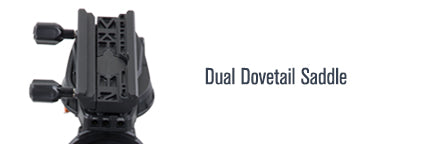 "Dual Dovetail Saddle 432X144""/></p> <ul> <li>Dual-fit Vixen/CG-5 and Losmandy/CGE dovetail saddle</li> <li>&plus;20&deg; of additional tracking past the meridian on either side</li> </ul> <p><img src="