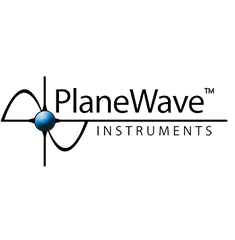 Planewave Logo White Black Back Ground