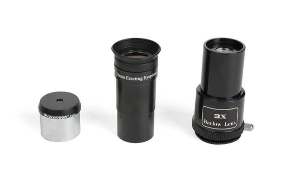Celestron astromaster eq md telescope with extra lenses for