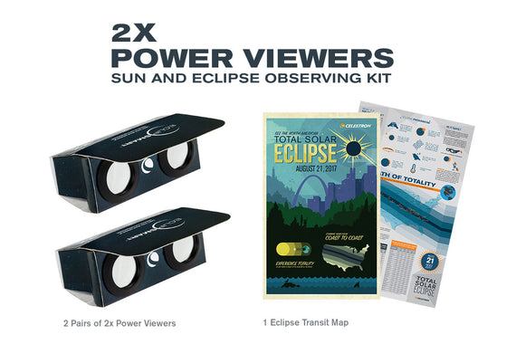 EclipSmart 2x Power Viewers Sun and Eclipse Observing Kit
