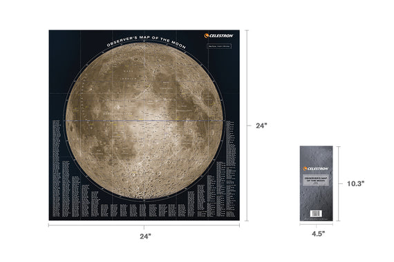 Observer's Map of the Moon