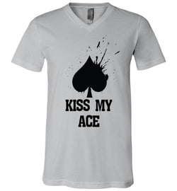 Kiss My Ace Premium V-Neck Tee - MicroGrinder Poker Shop