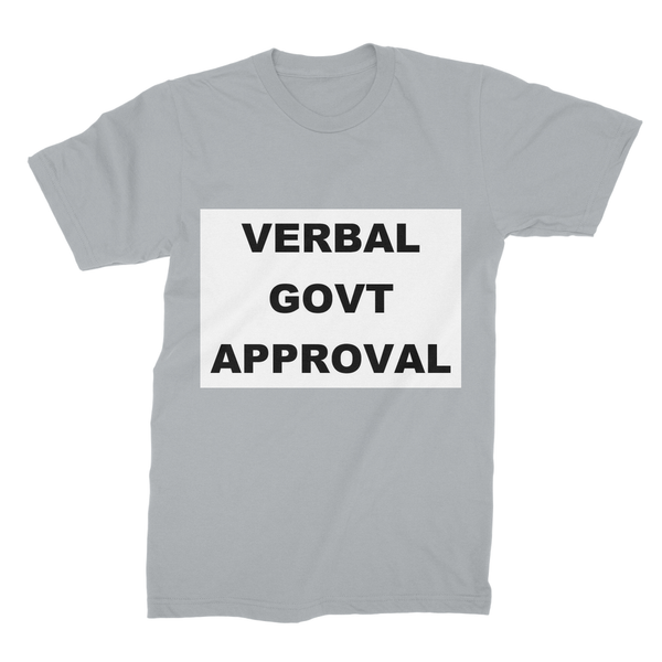 Verbal Govt Approval Unisex Fine Jersey T-Shirt