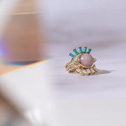 Hidden Star Ring in Pink Opal + Opal