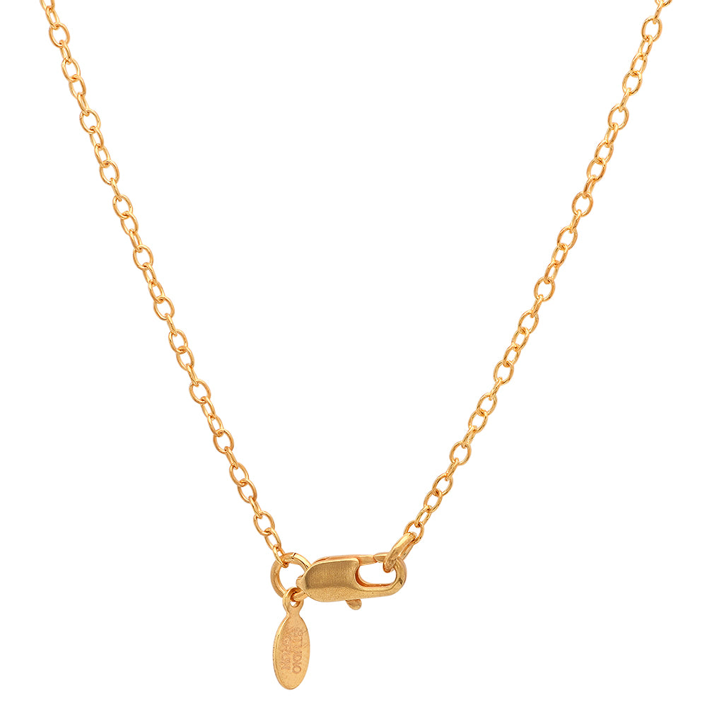 Peace Necklace (18K Gold Plate/Assorted Stones)