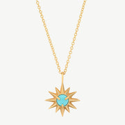 Starburst Necklace in Turquoise