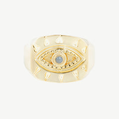 Lone Eye Signet in Opal